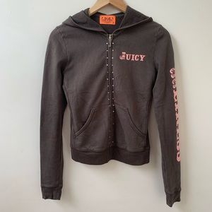 Juicy Couture brown terry hoodie size S